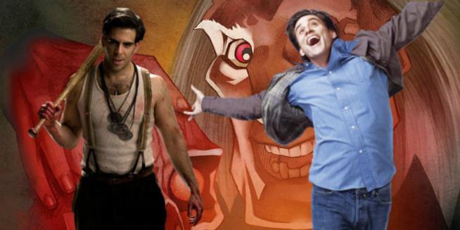 Il regista Eli Roth e l'attore Jim Carrey