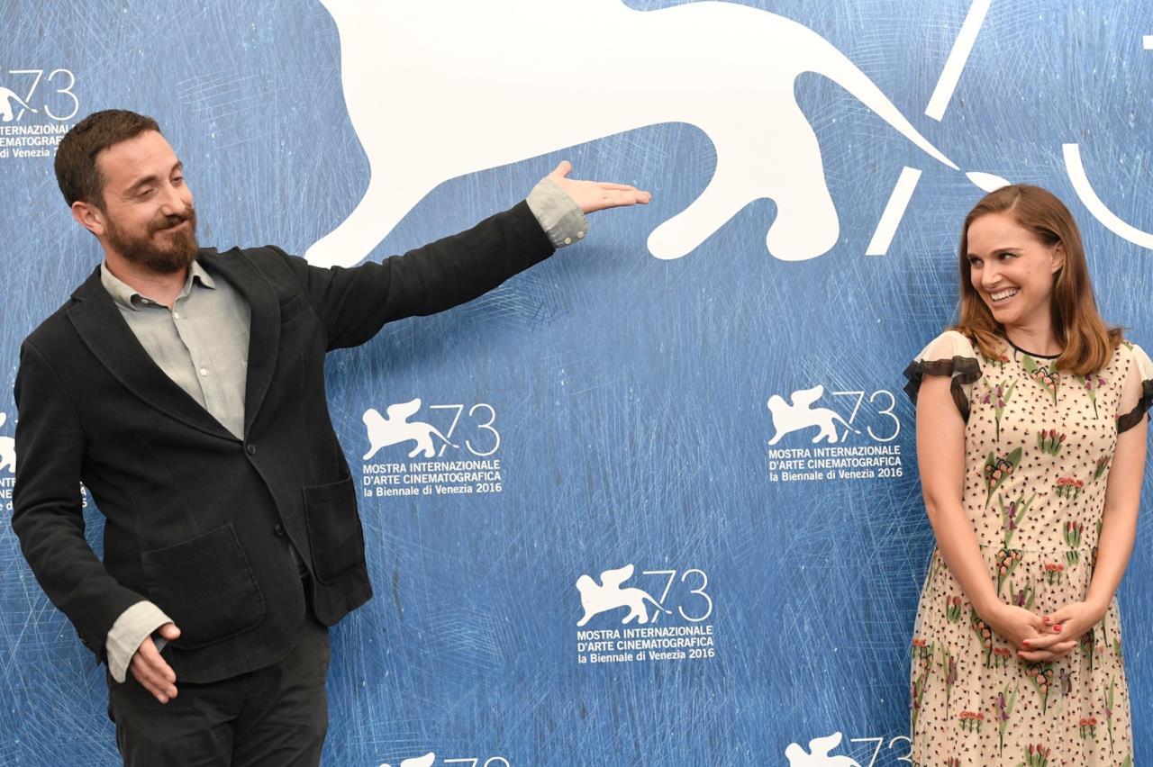 Pablo Larraín e Natalie Portman alla conferenza stampa di Venezia 73
