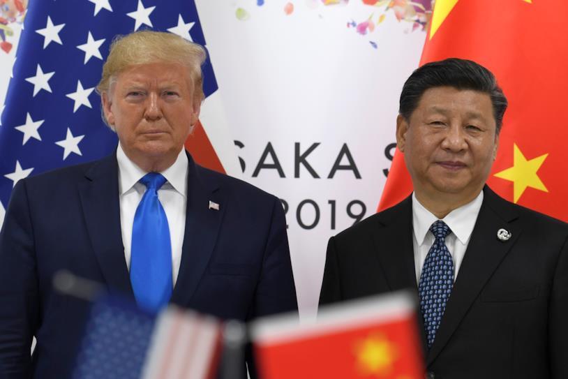 Donald Trump (sinistra) e Xi (destra) al G20 di Osaka