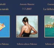 Le copertine dei tre romanzi di Malvaldi, Manzini e Savatteri