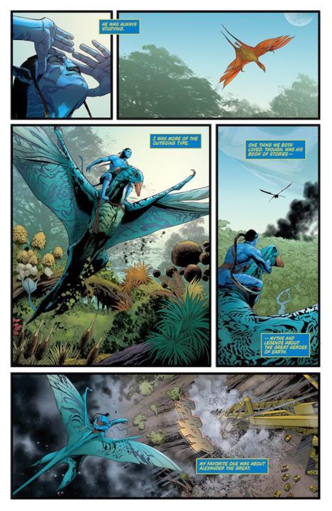 Primi disegni dal fumetto di Avatar