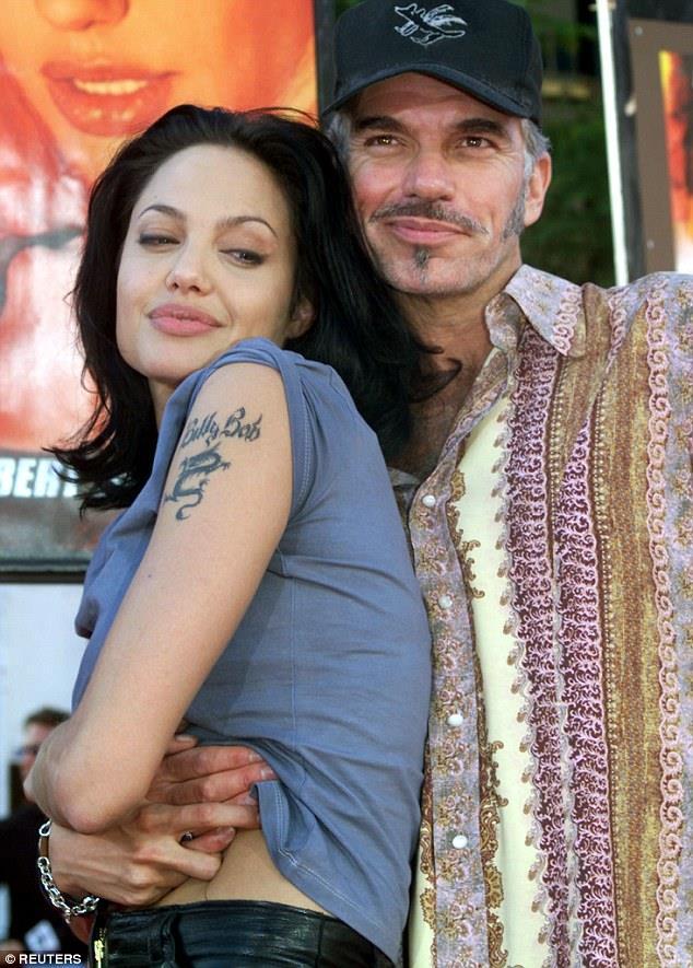 Angelina Jolie con il marito Billy Bob Thornton