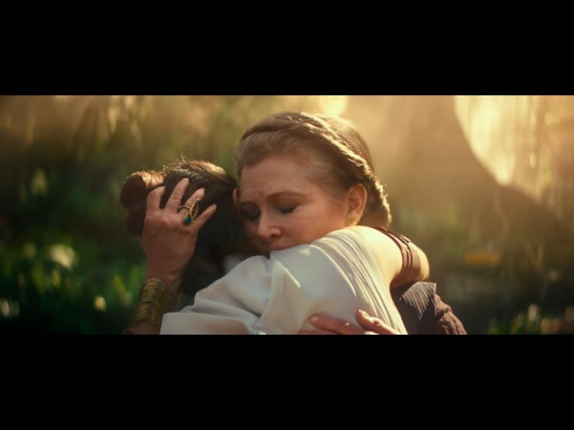 Immagine di Rey e Leia