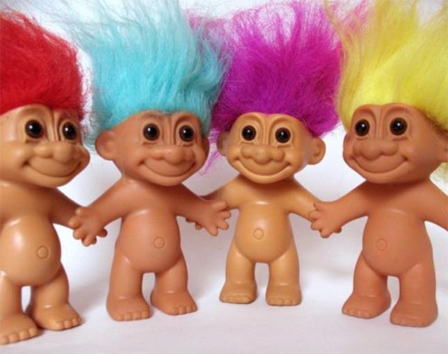 Gli storici pupazzetti colorati dalle sembianze di un troll