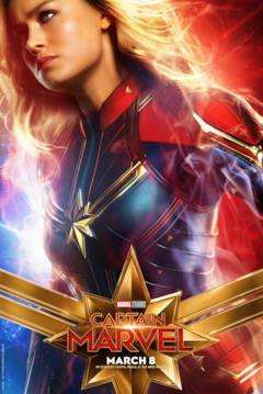 Il character poster di Captain Marvel con Carol Danvers (Brie Larson)
