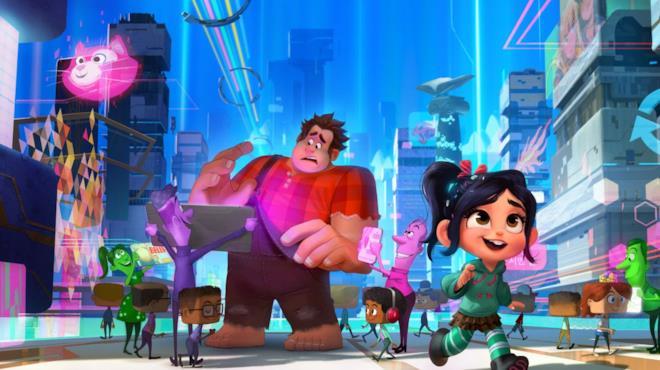 Una scena del film d'animazione Ralph Spacca Internet