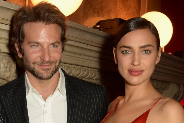 Un bel primo piano di Bradley Cooper e Irina Shayk