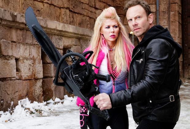 Tara Reid e Ian Ziering in Sharknado 5