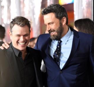 Gli amici e colleghi Matt Damon e Ben Affleck