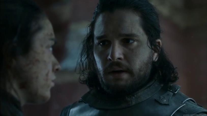Game of Thrones: Jon con Arya
