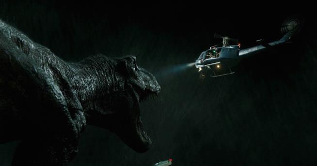 Il T-Rex in una scena iniziale del film
