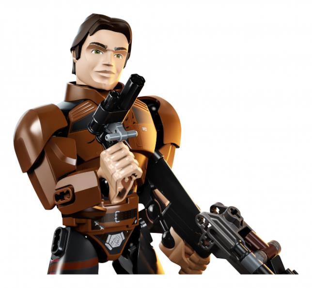 Il personaggio costruibile di Han Solo di LEGO
