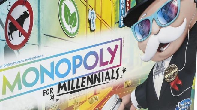 Il gioco Monopoly per Millennials