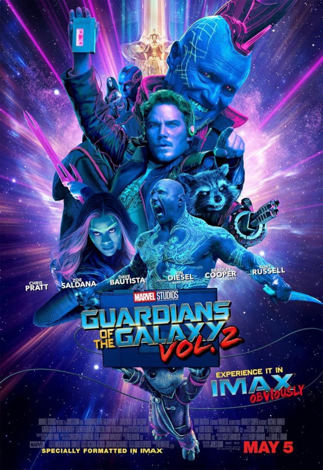 Il poster IMAX di Guardiani della Galassia Vol. 2