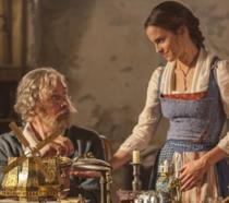 Belle e suo padre nel live-action La Bella e la Bestia