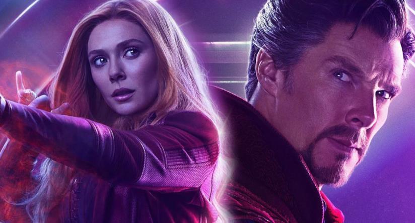 Wanda Maximoff (Elizabeth Olsen) e Doctor Strange (Benedict Cumberbatch)