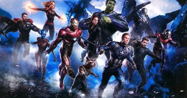 I Vendicatori nella promo art di Avengers 4