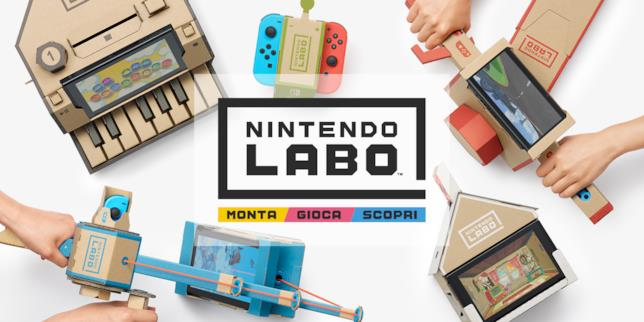 Nintendo Labo arriverà ad aprile con due Kit