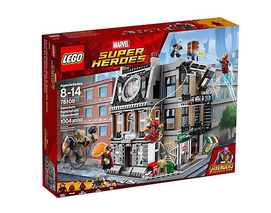 Dettagli del box che include il set LEGO La resa dei conti al Sanctum Sanctorum