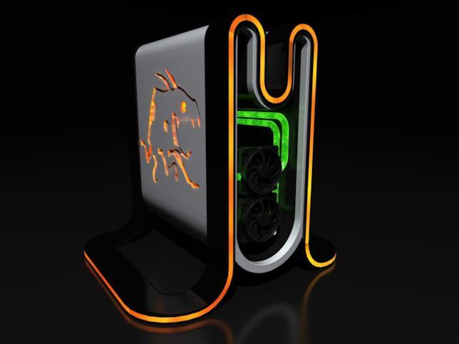 Render concept della console per la VR, Mad Box