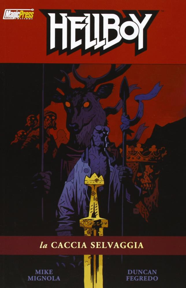 Hellboy nella cover de La Caccia Selvaggia
