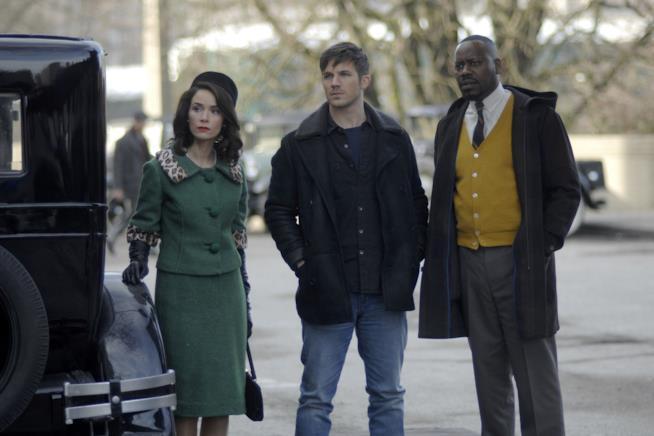 Lucy, Wyatt e Rufus in Timeless