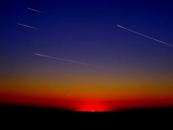 Stelle cadenti al tramonto