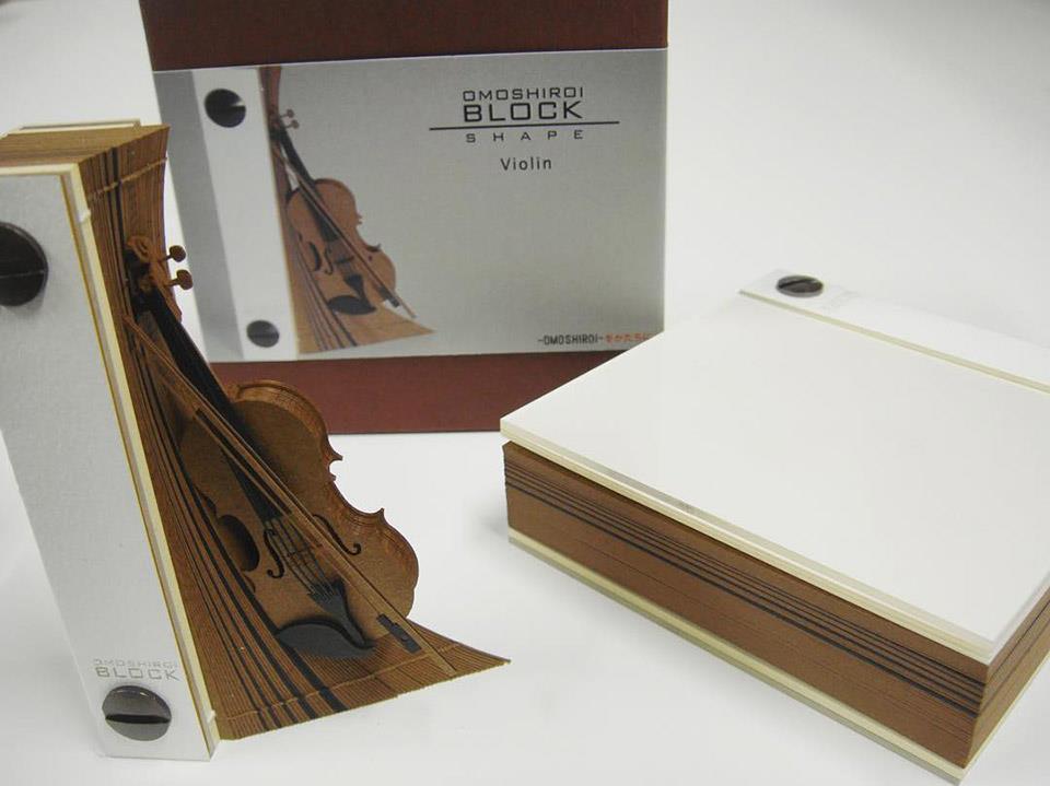 Triad produce anche memo pad a forma di violino