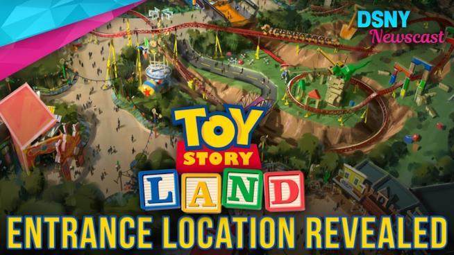 Toy Story Land vista dall'alto