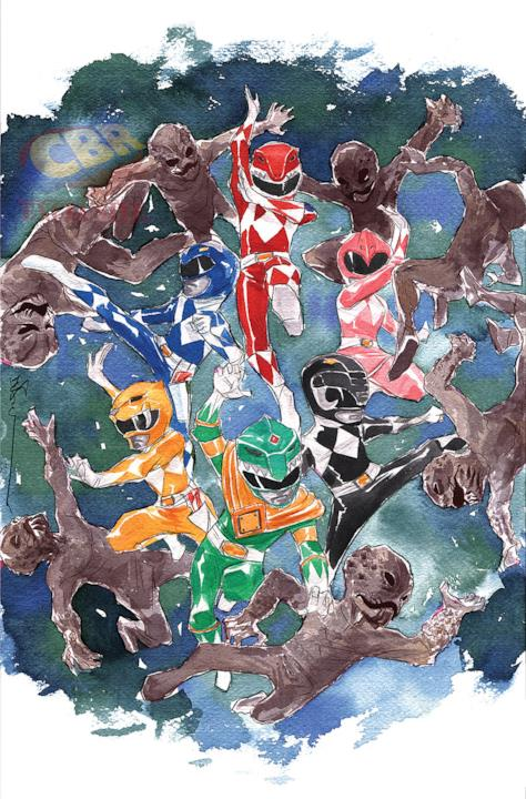 Variant cover di Mighty Morphin Power Rangers di Dustin Nguyen