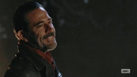 Jeffrey Dean Morgan nei panni di Negan