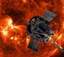Una rappresentazione della Parker Solar Probe della NASA