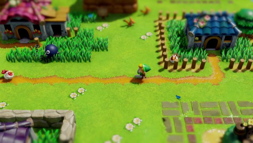 Un'immagine di gioco dal remake di Link's Awakening per Nintendo Switch