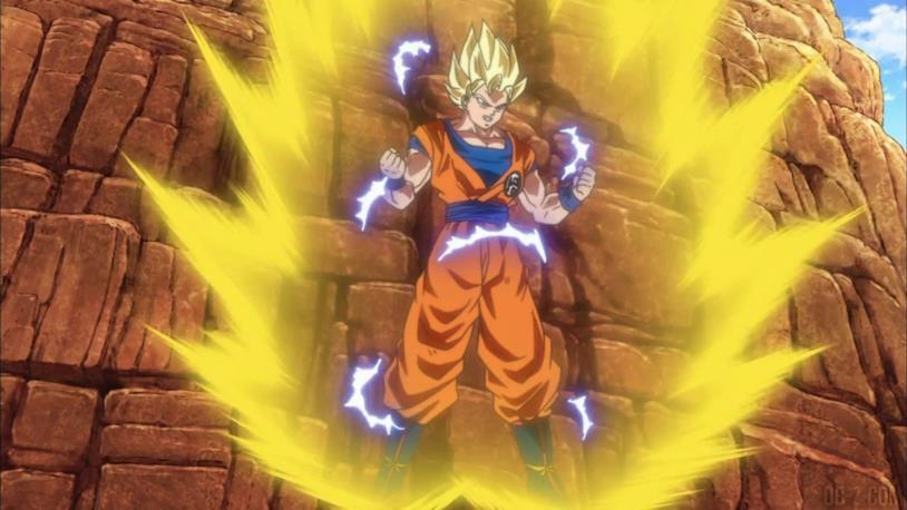 Goku trasformazione SSJ2