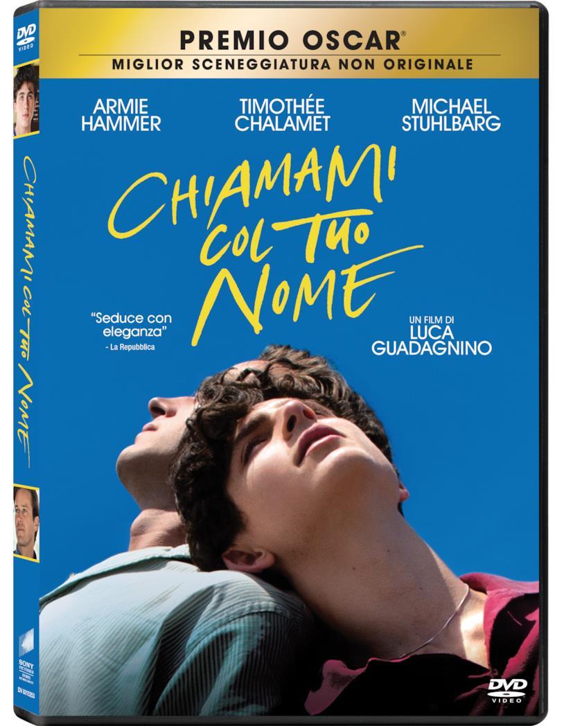 L'edizione home video di Chiamami col tuo nome