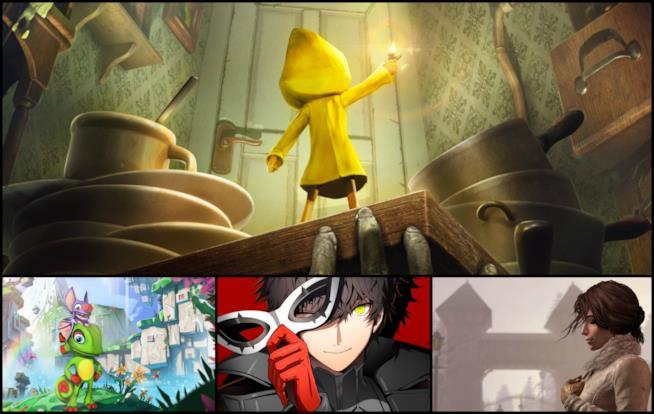 Alcuni dei personaggi dei videogiochi in uscita ad aprile 2017
