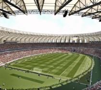 Visuale dall'alto per uno degli stadi di PES 2017
