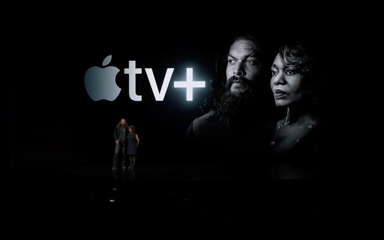 Jason Momoa e Viola Davis all'evento Apple del 25 marzo
