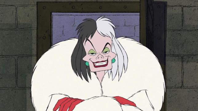Crudelia De Mon nel classico d'animazione Disney