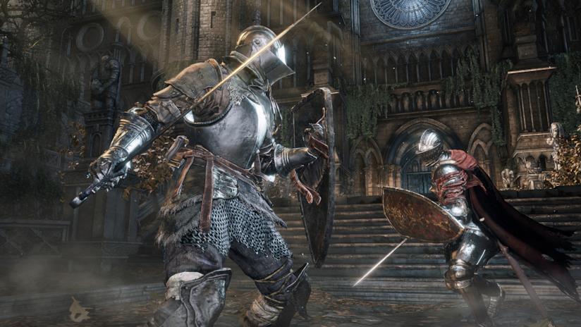 Un intenso combattimento di Dark Souls III
