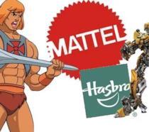 I logi di Hasbro e Mattel, due delle più iconiche e longeve produttrici di giocattoli