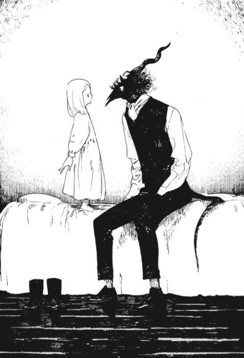 Shiva e il Maestro in un tavola del manga