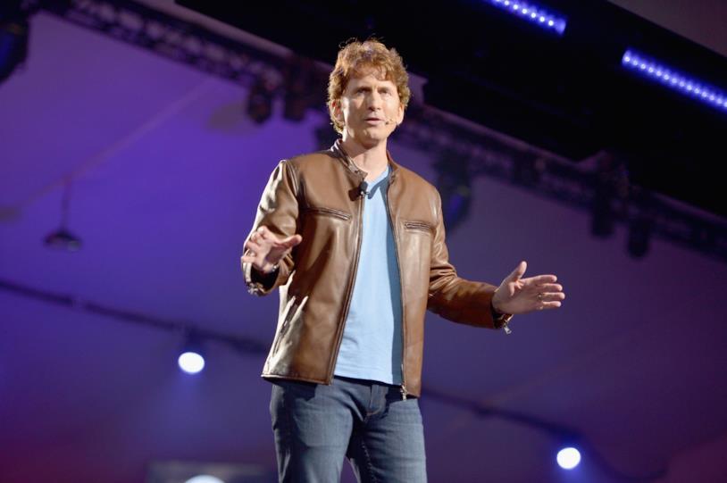 Todd Howard alla conferenza di Bethesda all'E3 2018