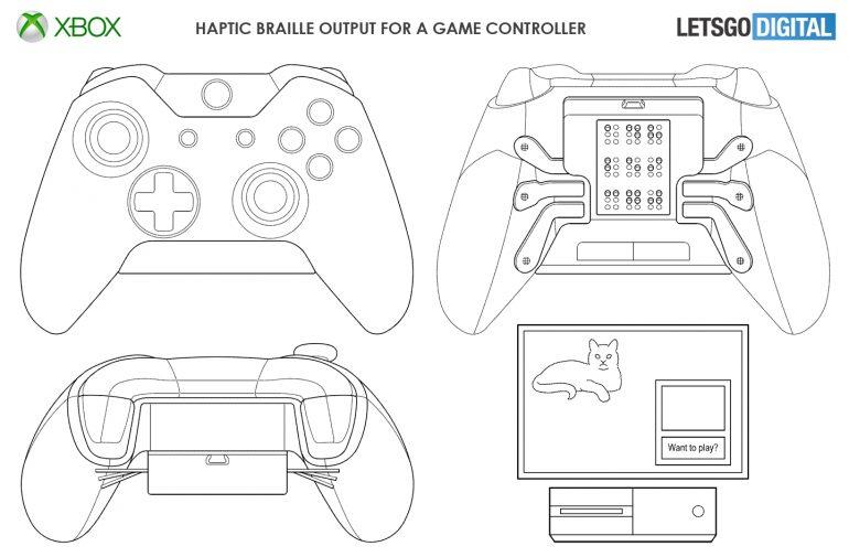 Il controller Xbox One in Braille brevettato da Microsoft
