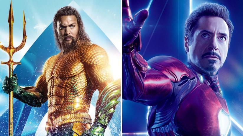 A sinistra Aquaman e a destra Iron Man