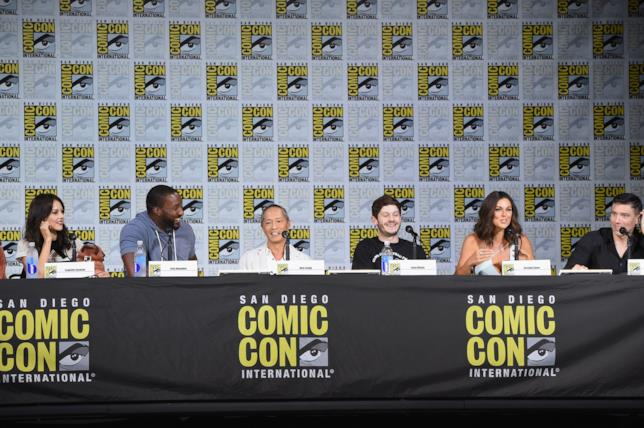 Uno scatto dal San Diego Comic-Con del cast di Marvel's Inhumans