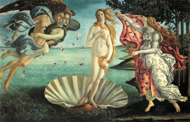 Il quadro de la Venere del Botticelli