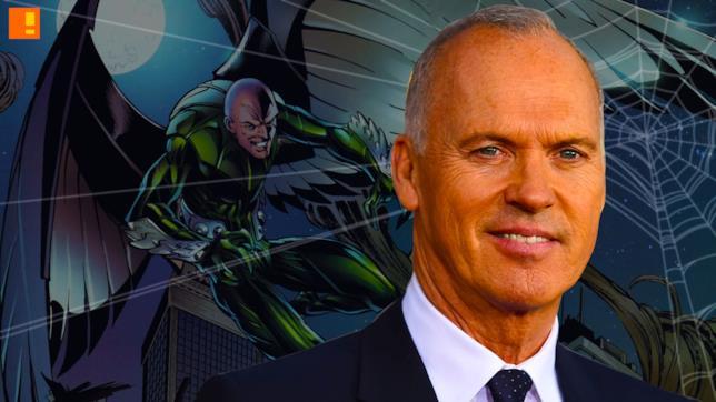 Michael Keaton e un'illustrazione del personaggio da lui interpretato