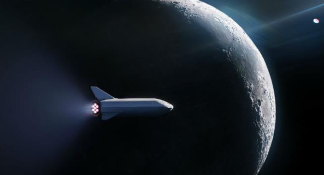 Mock-up del razzo lanciato da SpaceX