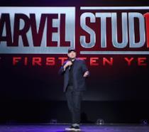 Kevin Feige sul palco per i 10 anni di Marvel Studios